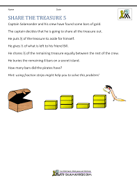 th grade math problems share the treasure 5