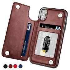 Премии пу кожаный бумажник дело карты держатель Kickstand ...