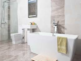 white tile bathroom tiled choosing bathroom tiles that make a statement