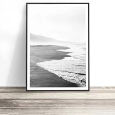 Beach Print (Black and White) | <b>Black</b>, <b>white wall art</b>, Contemporary ...