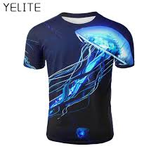 <b>YELITE Men'S T Shirt</b> 3d Print T Shirt Summer Shirts Short Sleeve ...