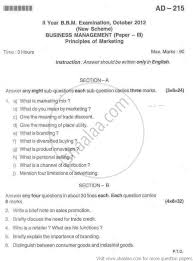papers in marketing principles of marketing code ba b com aiou old papers subject marketing management exam year question