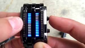 Uniprod Men's Blue Binary Luminous <b>LED</b> Electronic Display <b>Sport</b> ...