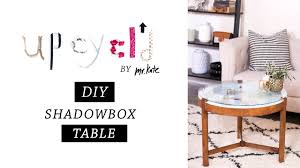 d decor furniture: upcycld diy shadowbox table furniture makeover home decor mr kate youtube