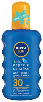 Nivea Sun <b>Kids</b> детский <b>солнцезащитный спрей</b> SPF 30 — купить ...