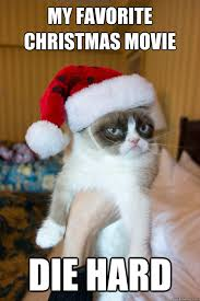 my favorite Christmas movie die hard - Christmas Grumpy Cat ... via Relatably.com