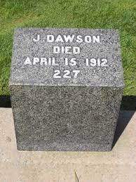 titanic a review writework gravestone of joseph dawson member of the crew of the rms titanic he died