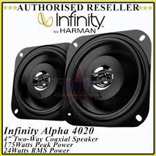 "<b>Infinity Alpha 4020</b> 4"" (10cm) inch Two-Way Coaxial Car Speaker ..."