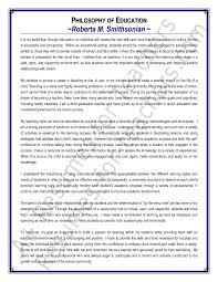 sample essay education  Philosophy on education essay