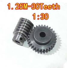 <b>D:41.25MM 1.25M 30T Speed</b> ratio:1:30 45# steel Worm gear+wore ...