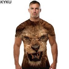 <b>KYKU</b> Brand 3d <b>T shirt</b> Animal Lion Shirt Camiseta 3d <b>T Shirt</b> Men ...