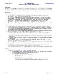 sample qa resume job and resume template entry level qa resume sample