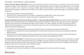 good objective for personal banker resume cipanewsletter personal banker resume example are examples we provide as