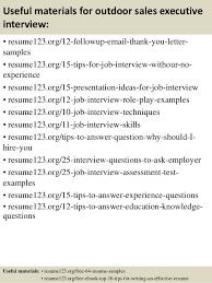 Top   outdoor sales executive resume samples         Useful materials for outdoor sales executive