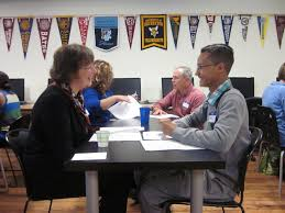 call for volunteers for college visions interview prep day