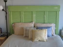 bedroom diy headboard wall hanging furniture white wall paint pillows bedlinen green wooden diy carpenter build your own wood furniture