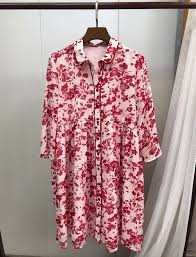 SPECIAL PROMO summer Women pink printing playful flow Dress ...