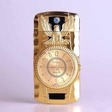 Luxury <b>Compact Jet</b> Gas Lighter Inflated <b>Butane</b> Bullion Oil Lighter ...