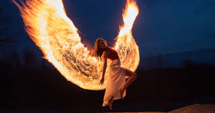 Photographer Shoots <b>Phoenix</b> Wings by Light <b>Painting</b> with <b>Fire</b>