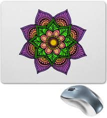 <b>Коврик для мышки</b> Цветок в стиле мехенди #2579982 от Achadidi ...
