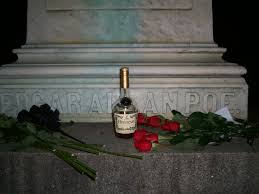 Image result for a bottle of rum near a tombstone