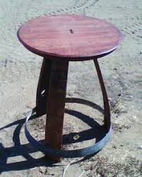 wine barrel table arched napa valley wine barrel table