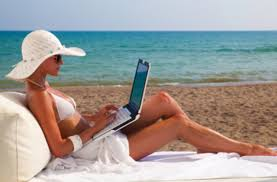 Image result for work from your laptop while on vacation