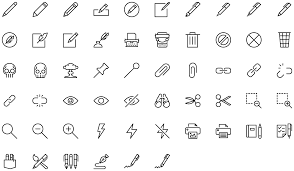 content edition basic icons flat icons 1000