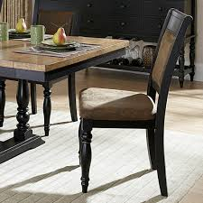 Two Toned Dining Room Sets Homelegance Grisoni 7 Piece Trestle Dining Room Set In Two Tone