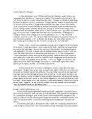 Of Mice and Men   Crooks Monologue   GCSE English   Marked by      of mice and men essays Free Essays and Papers