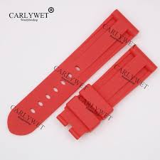 <b>CARLYWET 24mm Wholesale Newest</b> Red Waterproof Silicone ...