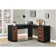 altra avalon cherry black l desk black computer desks