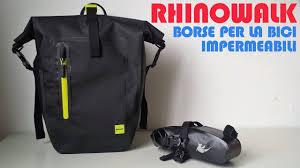 RECENSIONE: <b>Rhinowalk</b> Borse impermeabili per la bici - YouTube