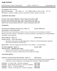 college application resume examples for high school seniors example
