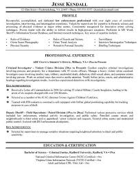 law enforcement resume objective   get free resume templateslaw enforcement resume example
