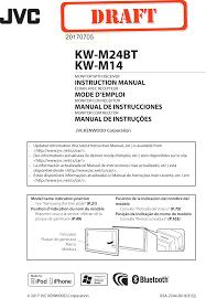 <b>KWM24BT</b> Car Radio User Manual KW ...
