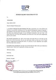 techno code llp solutions for simplicity it services at its best appreciation letter from secroot security solution technocode s work has been appreciated by secroot security solutions pvt for completing a website