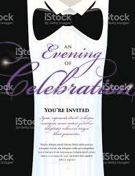 elegant black tie event invitation template tuxedo design elegant black tie event invitation template tuxedo design royalty stock vector art