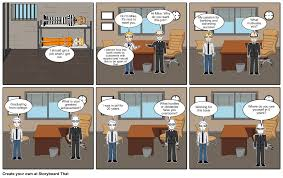 mock job interview comic strip storyboard by cameronmelsa