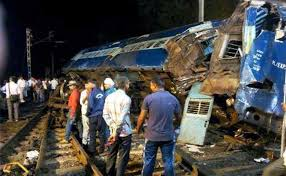 Image result for Train collision kills at least 10 in India