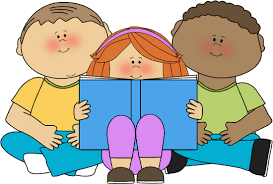 Image result for kid reading book clip art