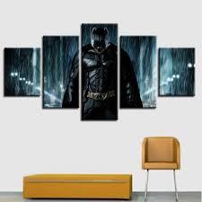 Canvas Prints Superhero Poster Home Decor <b>5 Pieces</b> Batman ...