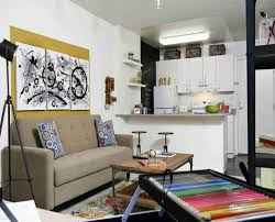 small bold color living room themes by fiery red balance with pops beautiful studio apartment open interior beautiful furniture small spaces living decoration living