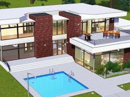 Modern House Floor Plans Sims Retro realty      s modern  Modern    Sims House Plans sims house floor plans   sims modern house