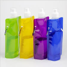 <b>40pcs lot</b> Portable <b>Folding</b> Sports Water Bottle For Sports <b>Foldable</b> ...