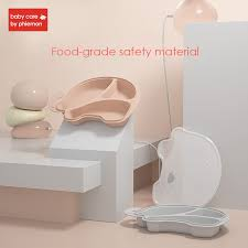 <b>BabyCare Baby Silicone</b> Plate Tableware <b>Infant</b> Food Container ...