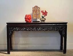 Carved Chinese Style Console <b>Table Reclaimed Teak</b> | Gado Gado ...