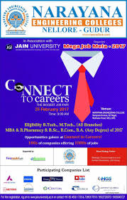 nec nellore narayana engineering college connect to careers the biggest job fair 25 2 2017