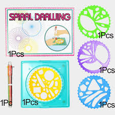 <b>6Pcs</b> Magic Spirograph <b>Creative</b> Drawing Set DIY Ruler Artful Kids ...