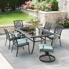 patio dining: belcourt  piece metal outdoor dining